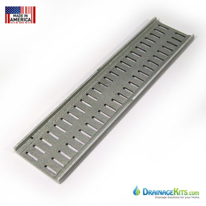 Aluminum slotted grates 3inch for NDS Mini Channel - back
