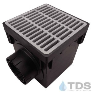 NDS-2outlet-catch-basin-4in-outlets-grey-slotted-grate-TDSdrains