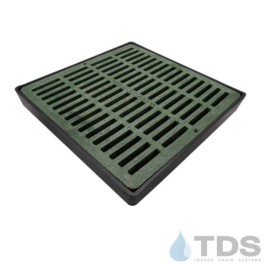 NDS-lowProfile-12-catch-basin-grn-slotted-grate-TDSdrains