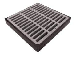 Low Profile Catch Basin Kit w/Slotted Polyolefin Grate 12″x12″