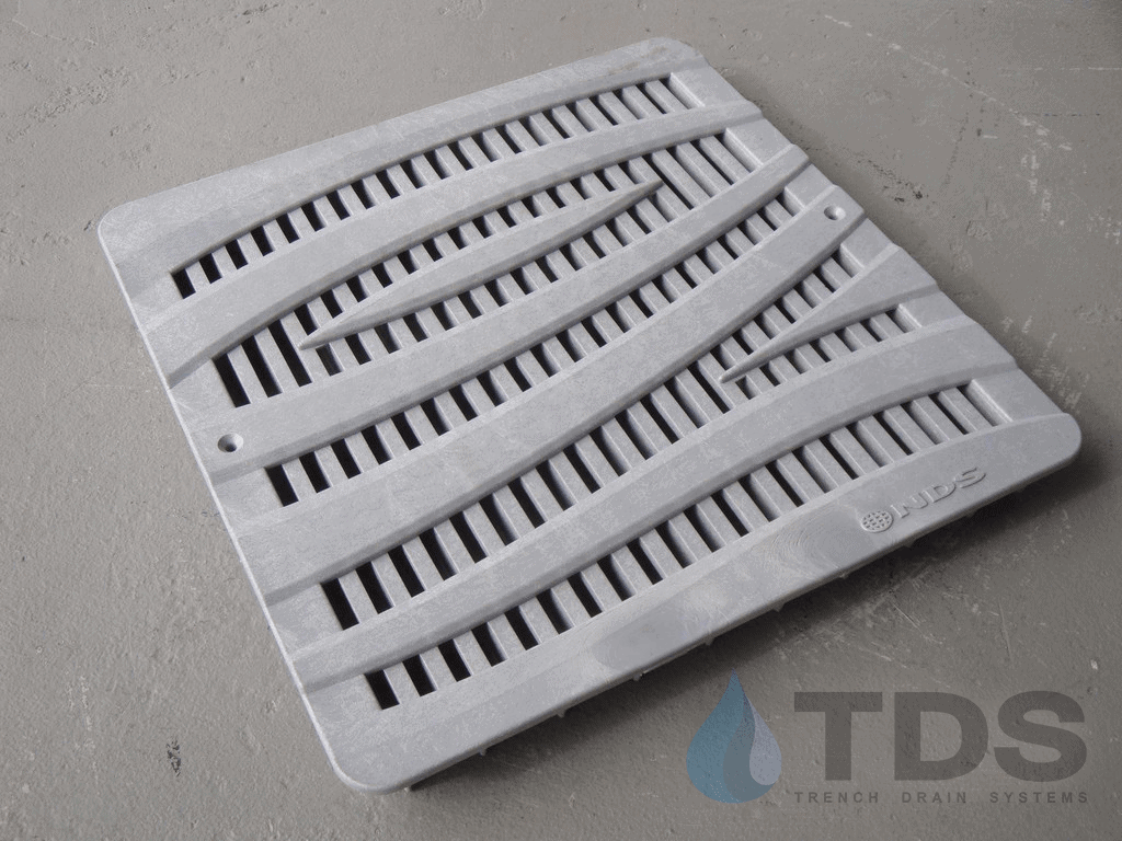 """NDS 12"""" Wave Pattern Catch Basin Grate-Gray-NDS1224GY"""