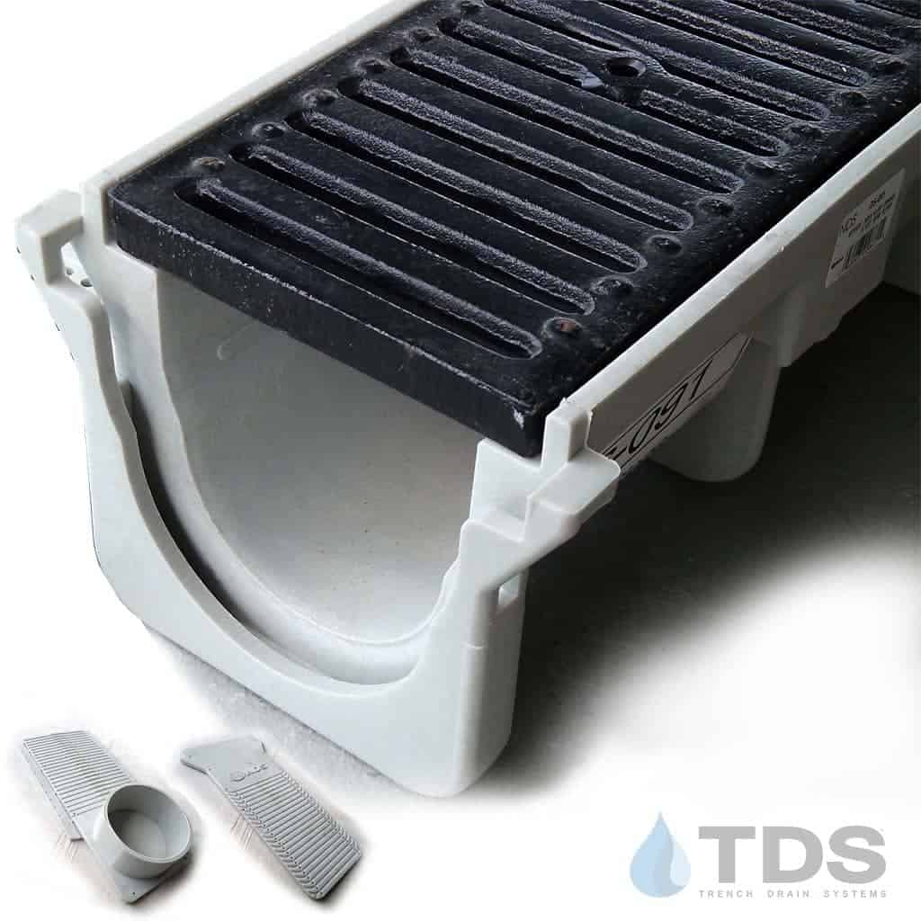NDS-DuraSlope-DI-grate-kit ductile iron grate hpde channel
