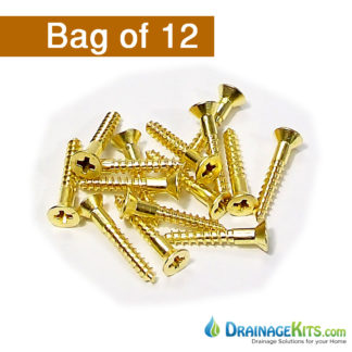 TDS-529B Brass FH screws -bag of 12