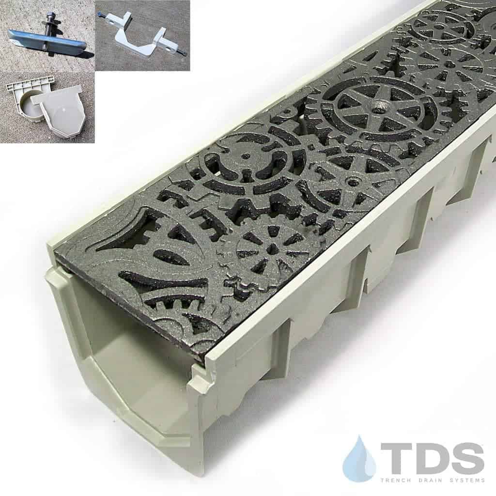 5 Quot Mearin 100 Driveway Drainage Kit W Cast Iron Grates