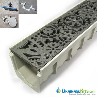 Mearin100 drainage kit with Iron Age cast iron Dynamo grate