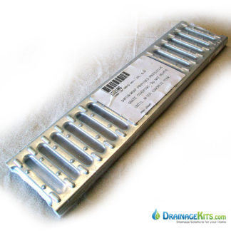 Galvanized slotted grate - 5xhalf m long for MEA trench drain