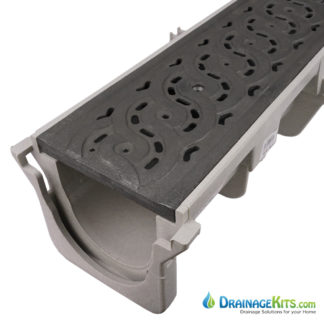 NDS Dura Slope drain Decorative Weave cast iron grate