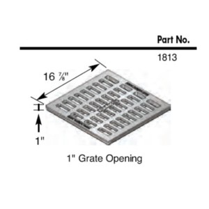 NDS 1813 cast iron catch basin grate drawing
