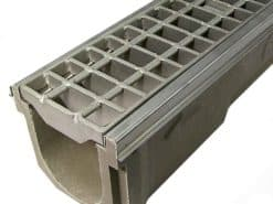 6″ POLYCAST® Drainage Kit w/Heavy Duty Stainless Steel Bar Grate