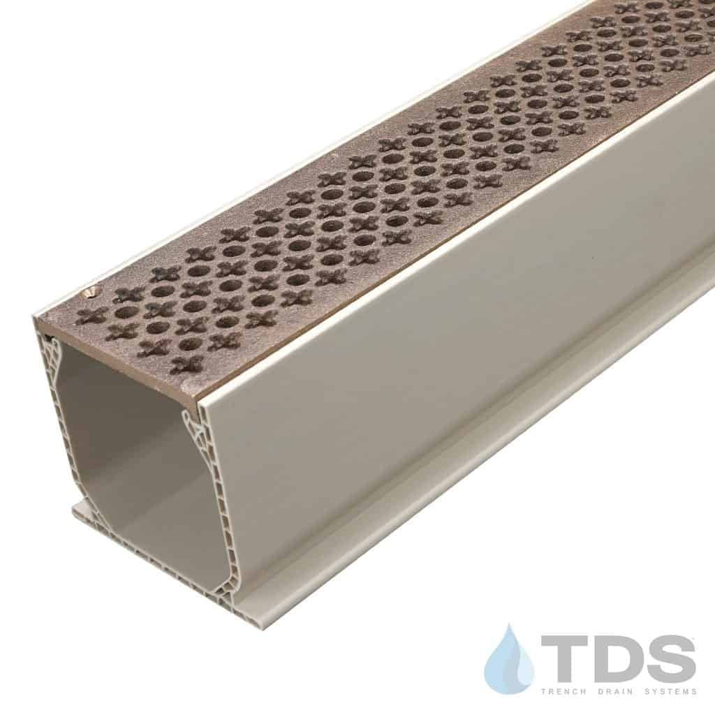 Natural Bronze Cathedral Grate with NDS Sand Mini Channel MCKS-TDS570
