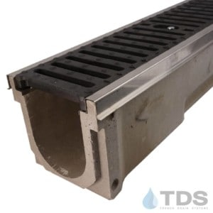 POLY600-SS-641D-TDSdrains stainless steel edge slotted cast iron grate polymer concrete channel Polycast