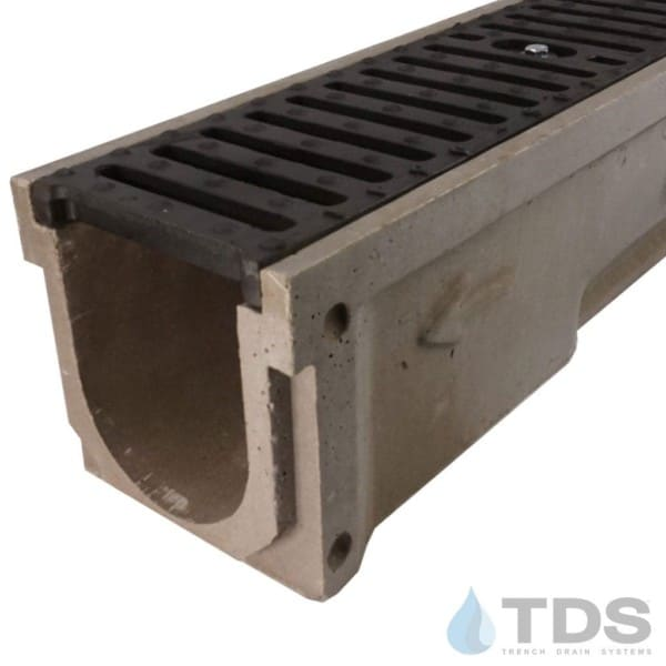 POLY600-xx-641D-TDSdrains ductile iron slotted grate polymer concrete channel Polycast