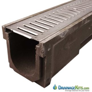 Polycast 600 drainage kit with Stainless Steel Slotted grates