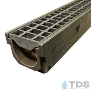 POLY600-xx-669-TDSdrain stainless steel bar grate polymer concrete channel Polycast