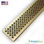 Cathedral bronze 3in brushed satin finish grate for NDS Mini Channel