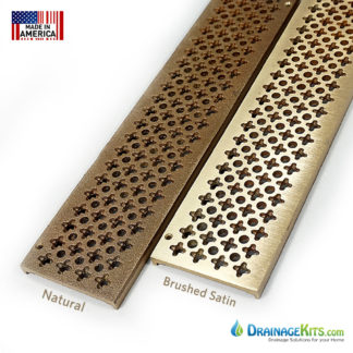 Cast Bronze grates for NDS Mini Channel - Natural or brushed satin