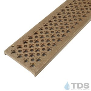 Trench Drain Systems natural bronze cathedral grates for NDS mini channel