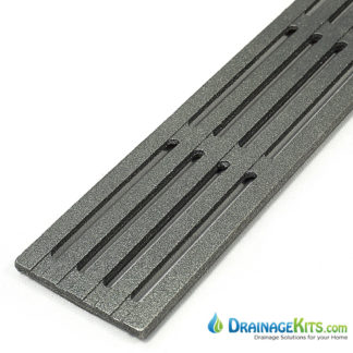Iron Age Mini Channel Grate - raw cast iron - Que pattern 3x12
