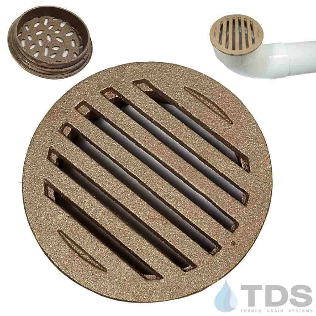 DK-4in-bronze-grated-natural-finish-TDSdrains