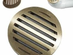 4″ Round Bronze Deco Pipe Grate – Slotted
