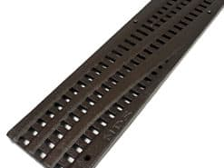 4.1″ x 24″ Spee-D Channel Deco Cast Iron Grate – Wave