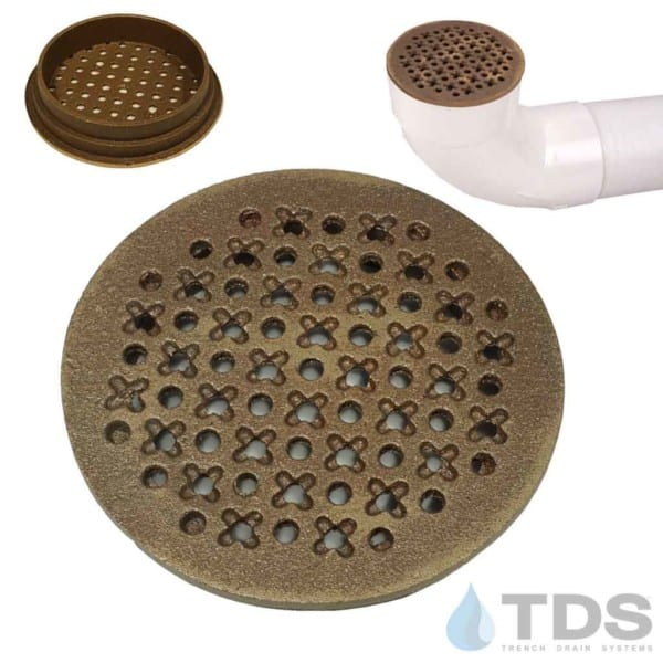 TDS-4in-bronze-natural-cathedral-TDSdrains
