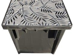 Catch Basin Kit w/Decorative Locust Cast Iron Grate 24″ x 24″