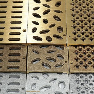 TDS bronze and aluminum deco grates - for NDS Mini Channel