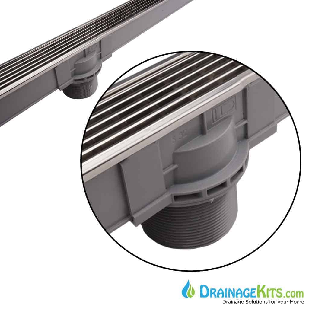 Polished Steel Pool and Spa Shower Drain by Infinity Drain