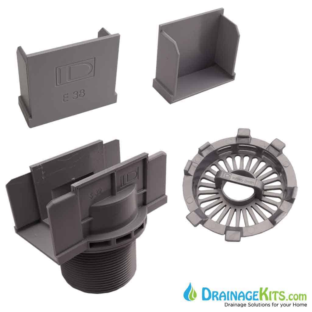 Wedge Wire Stainless Steel Poolside / Shower Drain Kit