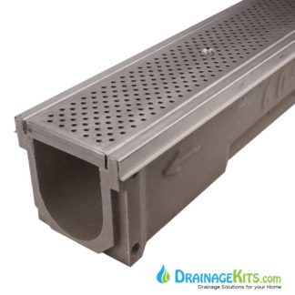 Poly600-SS-657-DK stainless steel perforated grate stainless steel edge