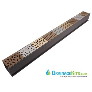 Deco grating Bronze Aluminum Mini Channel promotional grating cathedral rain slotted