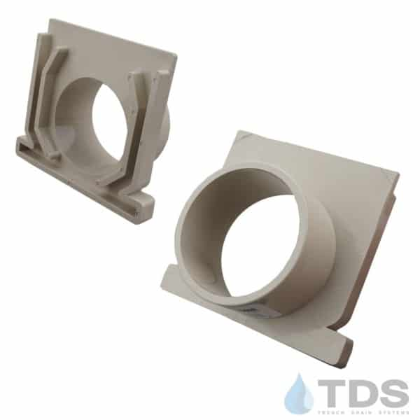 """3"""" NDS Sand Mini Channel End Outlet MCKS-546-TDSdrains"""