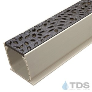 MCKS-554CI-BF-TDSdrains Sand Channel with NDS Botanical Cast Iron Grate