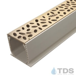 MCKS-TDS565-B-TDSdrains Sand Mini Channel with Deco Raindrop Bronze Grate