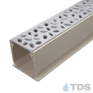 MCKS-TDS566-TDSdrains Sand Mini Channel with Aluminum Raindrop Grate