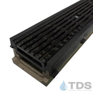 POLY500-PE-675HD-TDSdrains frame cast iron transverse slotted ADA grate POLYCAST polymer concrete channel