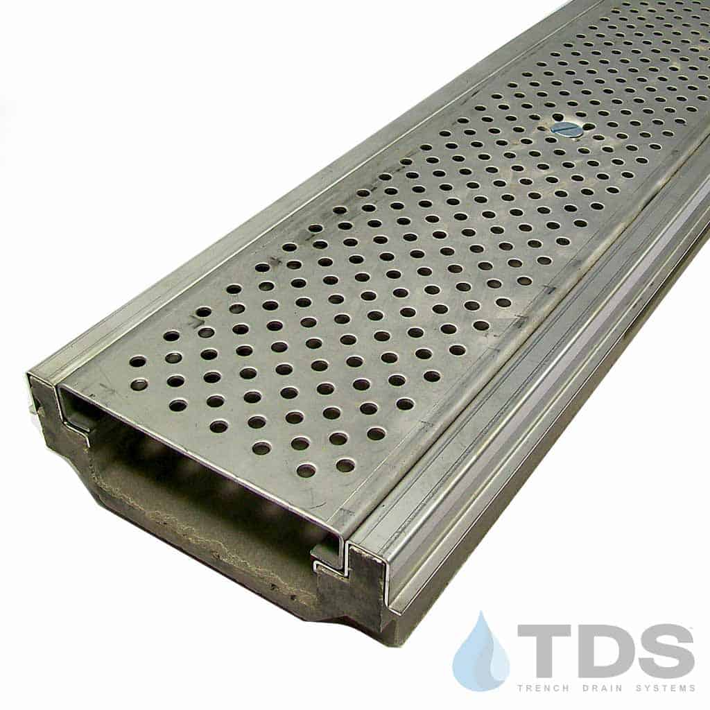 Polycast 174 500 Drainage Kit W Stainless Perforated Grate