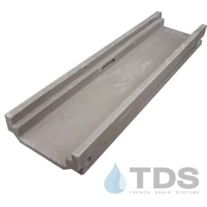 Polycast-500-channel-DK low profile polymer concrete channel shallow