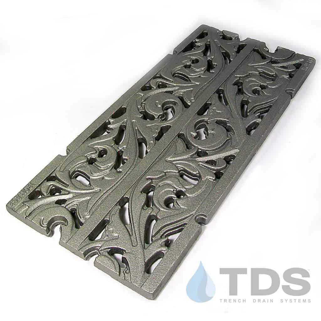 IA-9x20in-CI-Acanthus-Grate-fullview raw cast iron deco Iron Age