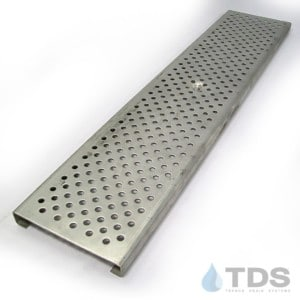 """POLYCAST DG0657H 5.1"""" x 24"""" Stainless Steel Perforated Grate"""