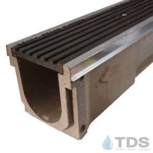 POLY600-GS-675HD-TDSdrains galv steel edge transverse slotted grate polymer concrete channel Polycast