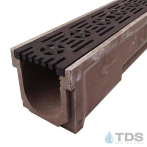 POLY600-XX-692-DK cast iron patriot grate polymer concrete channel Polycast