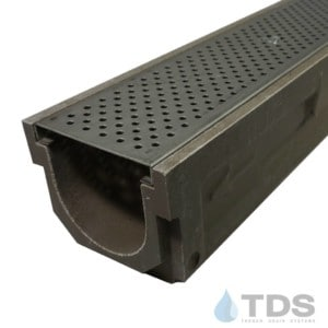 POLY600-xx-657-TDSdrains stainless steel perforated grate polymer concrete channel Polycast