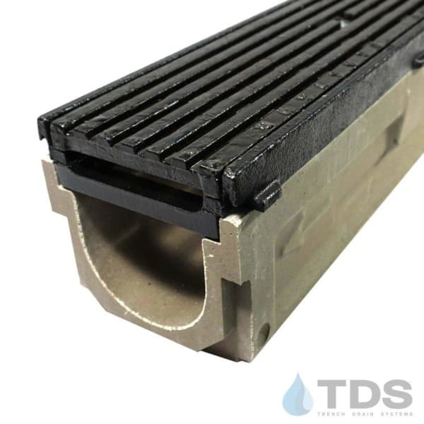POLY700-AA-675D-TDSdrains cast iron frame transverse cast iron grate polymer concrete channel Polycast