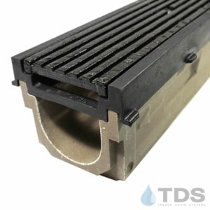 POLY700-PE-675D-TDSdrains HPDE frame cast iron transverse slotted grate polymer concrete channel Polycast