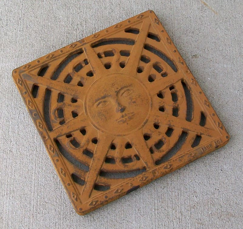 Untreated Cast Iron Rusting Sun Iron Age Grate