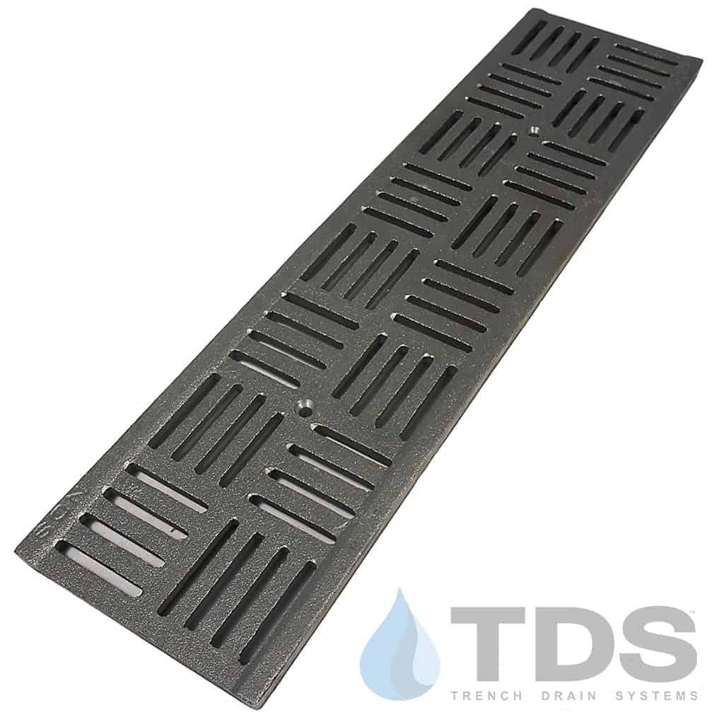 DS-609-Deco-Slotted-CI-grate dura slope NDS cast iron grate