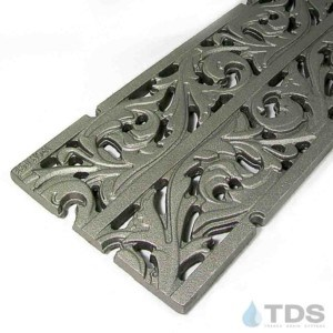 IA-9x20in-CI-Acanthus-Grate-TDSdrains cast iron deco