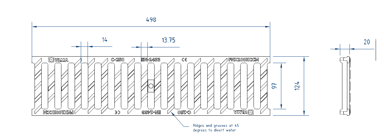 460 ductile iron slotted grate